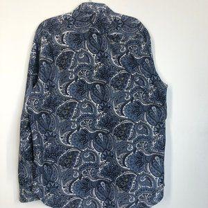 Michael Kors Shirts - Michael Kors Paisley Print Dress Shirt Size Large